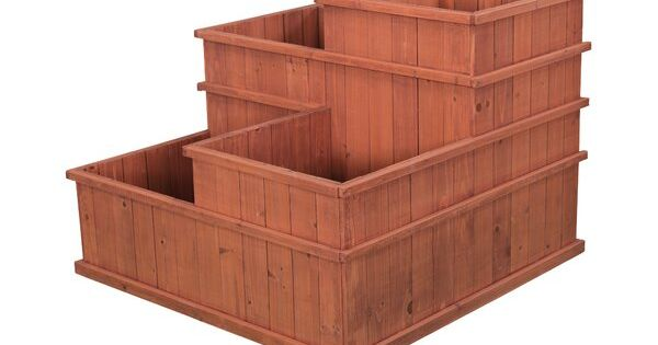 Sustainable Multi Level Planter Increases Growing And Harvest Potential Of Vegetables And Flowers This Mu Raised Garden Garden Tool Storage Raised Garden Beds