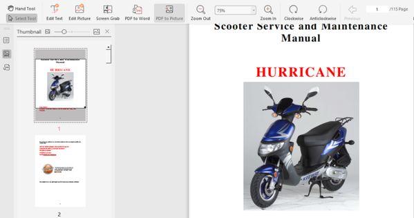 Keeway Hurricane 50 Scooter Digital Workshop Repair Manual 2006 2012 Pdf Download In 2020 Repair Manuals Repair Workshop
