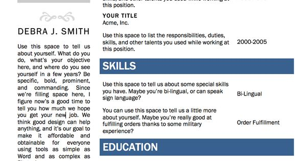 download resume templates microsoft word  504