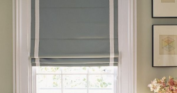 Roman Blind With Inset Border Cornices And Drapery