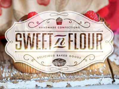 Sweet 'n Flour logo. Great style! (corporate branding creative logo identity design)