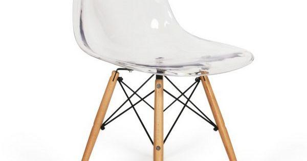 Chaise eames dsw style transparent meublesconcept 89 9 for Acheter chaise eames