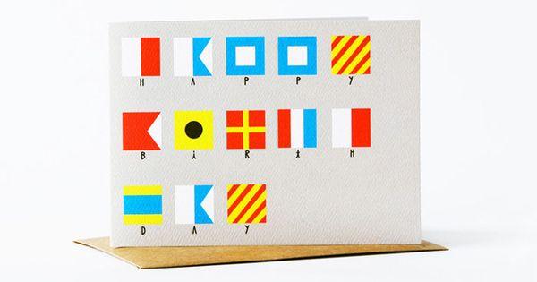 Nautical Flag Card