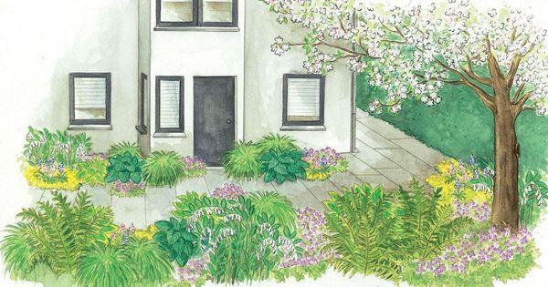 zum nachpflanzen schattenbeet zwischen zwei h usern die sonne schmal und gartenideen. Black Bedroom Furniture Sets. Home Design Ideas
