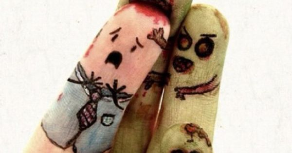 I love these zombie finger people!! Lol