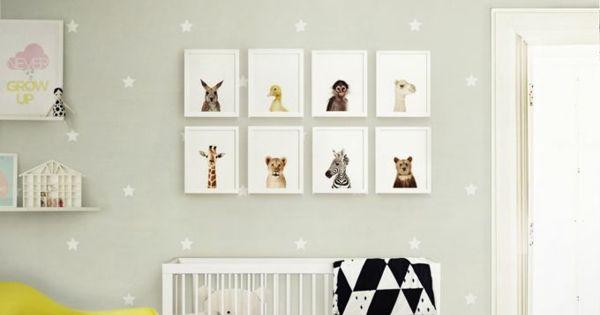Wandgestaltung Babyzimmer : Niedliche Babyzimmer Wandgestaltung ...
