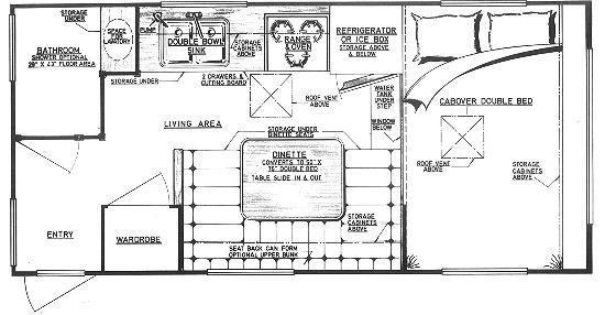 Camper Plans Everglade Design 11 Truck Camper Truck Camper