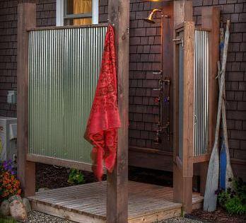 Outside Shower Ideas Rustic