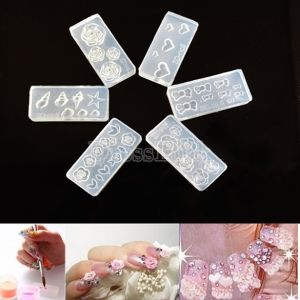 3d Acrylic Carving Mold For Nail Art Decorations Diy Design Soft
