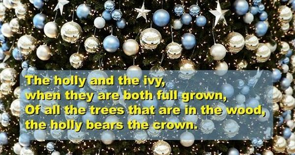 The Holly And The Ivy Lyrics Video For Karaoke Holly Free Instrumentals Christmas Carol