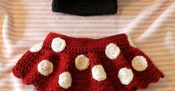 Monroe Crochet Patterns: Crochet Newborn Outfit Made to Look Like Minnie Mo...