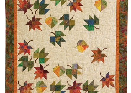 Beautiful, animated leaf quilt in Eye-Catching Quilts: 16 Designs from the Experts at Quiltmaker ...
