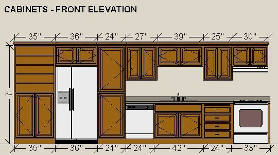 Dimensioning Cabinets In A Wall Elevation Chief Architect Knowledge Base Chief Architect Cabinet Elevation