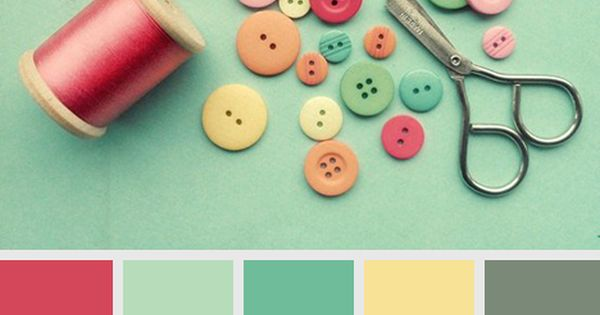 VINTAGE color scheme----watermelon, seafoam, dark seafoam, buttery yellow and chalkboard... girls room