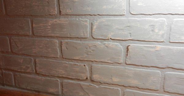 Budget Friendly Painted Brick Backsplash At Faux Brick