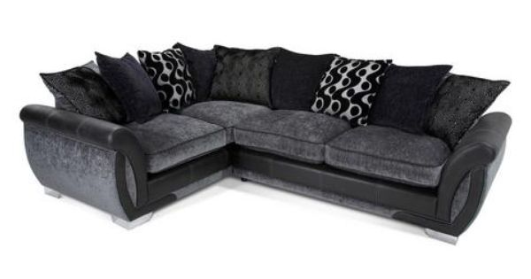 Shannon Right Hand Facing 3 Seater Pillow Back Corner Sofa Bed Talia Dfs Corner Sofa Corner Sofa Bed Dfs Sofa