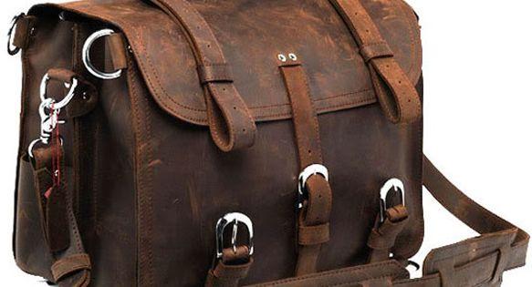 Vintage Handmade Large Genuine Crazy Horse Leather Backpack / Traveling Bag -
