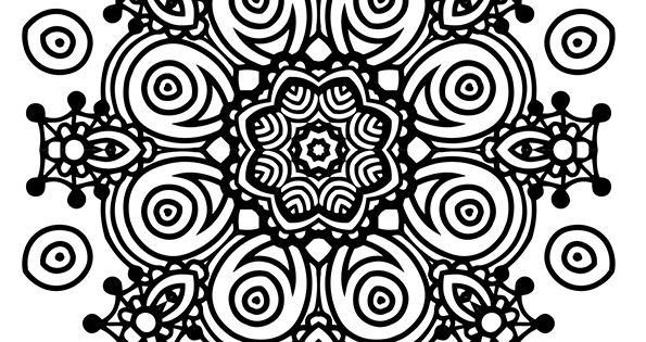 Coloriage D'un Superbe Mandala En Forme D'étoile Facile à Colorier
