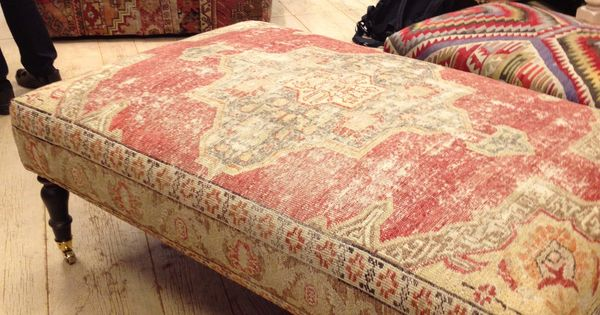Rug Covered Ottomans Pinteres