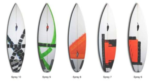 Chilli surfboards art design cool surfboards designs for Awesome surfboard designs