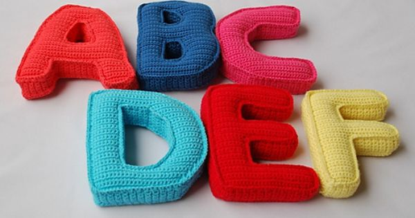 Free Crochet Letter Pillow Pattern : Ravelry: Alphabet Crochet Pattern . 26 Capital Letters ...