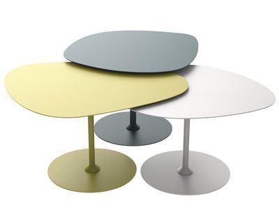 Tables Gigognes Galet Outdoor Matiere Grise Blanc Bleu Vert Made In Design Tables Gigognes Table Basse Galet Table Basse