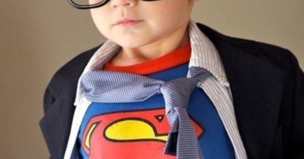 Little boy Halloween costume idea - Clark Kent!