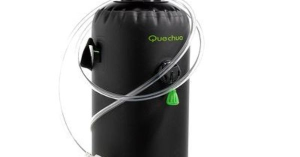 douche portable avec eau sous pression quechua. Black Bedroom Furniture Sets. Home Design Ideas