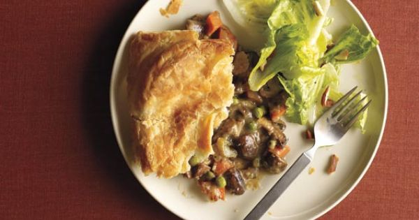 We LOVE this mushroom potpie from Real Simple. Use store-bought puff-pastry for