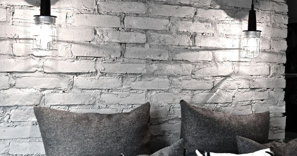 Kinda in love with these deer pillows - 16 Beautiful Exposed Brick
