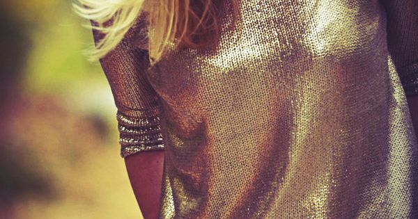 Would love a Metallic Sweater for Spring to wear over a maxi