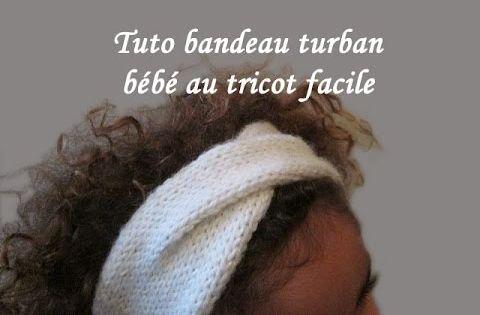 les tutos de fadinou tuto bandeau turban pour bebe au tricot facile tricot couture bijoux. Black Bedroom Furniture Sets. Home Design Ideas