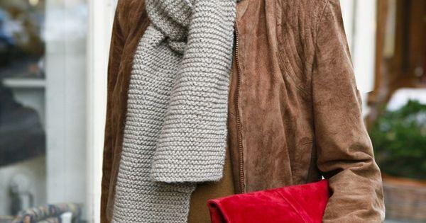 fall style-- hair jacket purse