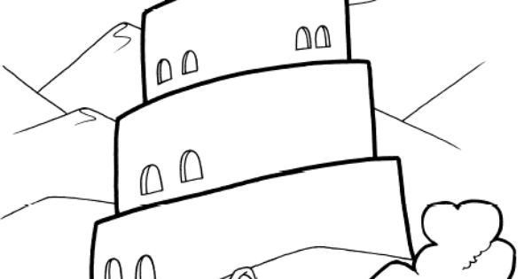 for Tower of babel coloring pages for kids