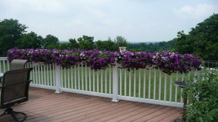 How Using Deck Rail Planter Boxes Can Dress Up A Boring Space