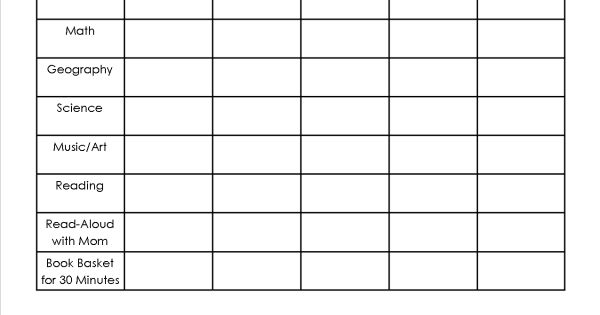 homeschool assignment  u0026 chores sheet  free printable