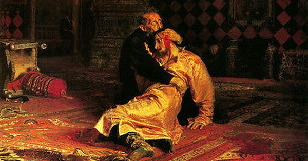Oil Repin Iliya Efimovich Ivan The Terrible And His Son Ivan On November ロシア絵画 怖い絵 イリヤ