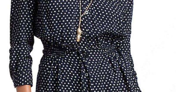 Dotted Peplum Blouse