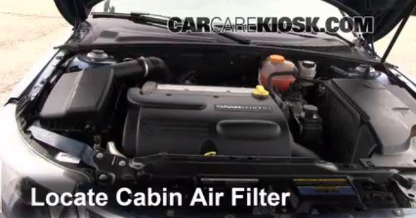 2008 2011 Saab 9 3 Cabin Air Filter Check 2008 Saab 9 3 2 0t 2 0