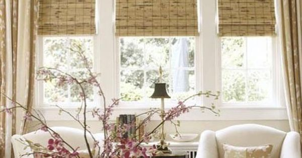 Matchstick blinds could add framing to separate large for Window treatments for less