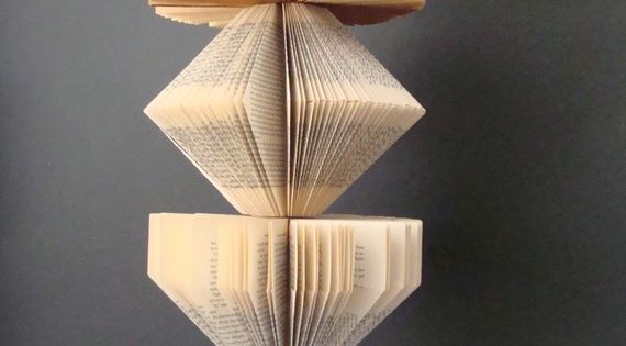 Handmade Upcycled Vintage Book Lamp
