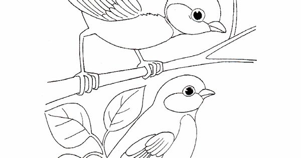 Simple Bird Coloring Pages Best