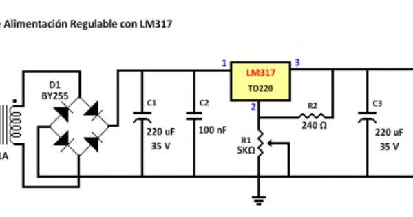 fuente de alimentacion regulable con lm317
