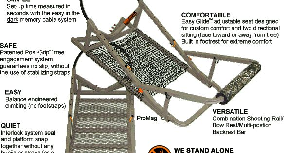 Treewalker treestands are super lightweight aluminum for Climbing tree stand plans