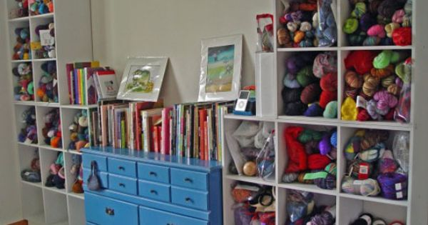 Great yarn storage idea