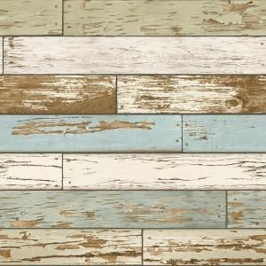 Nuwallpaper Old Salem Vintage Wood Peel And Stick Vinyl Strippable Wallpaper Covers 30 75 Sq Ft Nu2188 The Home Depot Distressed Wood Wallpaper How To Distress Wood Wood Wallpaper