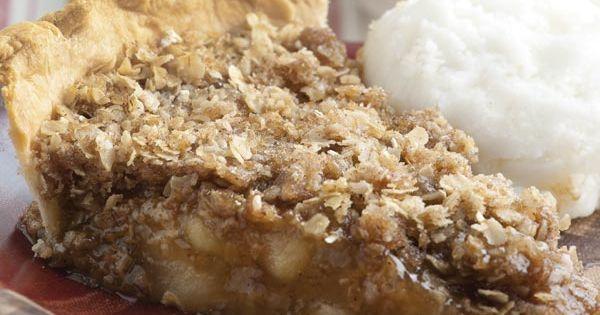 Apple Crisp Pie Recipe | MyRecipes.com- Um uses canned apple pie filling.......hesitant.