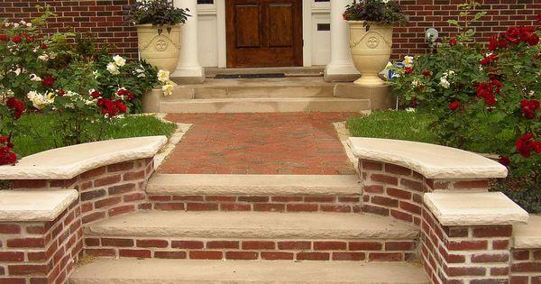 Brick Stone Masonry Steps Brick Steps Garden Steps Stone Masonry
