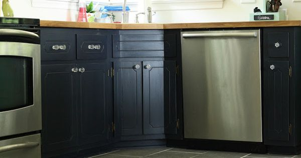 My Painted Kitchen Cabinets and Ikea Butcher Block Countertops; paint ...