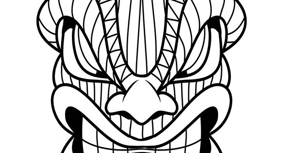 Tiki Head Snake Zentangles Adult Colouring Pinterest